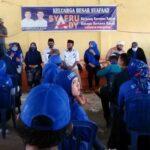 Ribuan Tim Pemenangan Paslon Syafa'ad di Woha Dikukuhkan