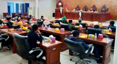 DPRD Gelar Paripurna Penjelasan Walikota Terhadap Pengajuan Perubahan Perda RPJMD