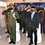 Wawali Bima Hadiri Upacara Virtual Dirangkaikan Syukuran HUT TNI Ke-75