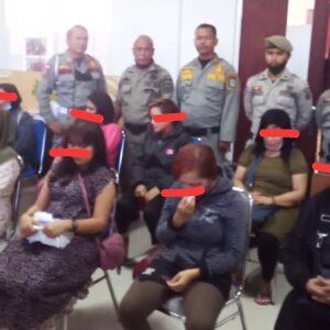 Pol PP Kota Bima Amankan 8 Wanita Diduga PSK dan Pasangan Bukan Muhrim