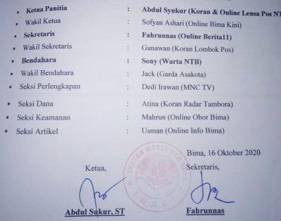 Catut Nama dan Palsukan TTD Jurnalis dalam Proposal, Oknum Wartawan Bima Bakal Dilapor Polisi