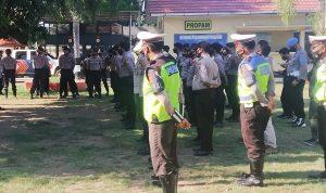 Amankan Aksi Unjuk Rasa, Polres Bima Turunkan 62 Personil