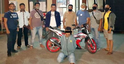 Polsek Rasbar Ciduk Pelaku Lain Pencurian Motor Mahasiswi