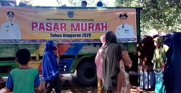 Pasar Murah Ada Spanduk IDP-Dahlan, Dinas Perindag Ngaku tidak Sengaja