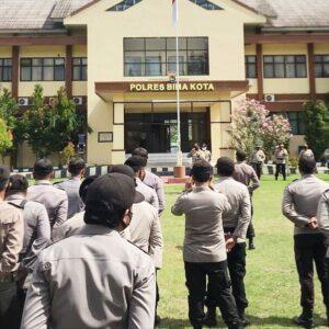 Kapolres Pimpin Apel Cek Personil Persiapan Pilkada Kabupaten Bima
