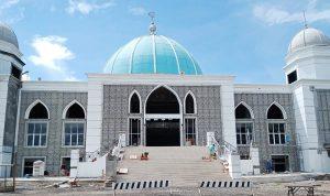 Progres Pekerjaan Masjid Agung Al Muwahiddin Capai 96 Persen