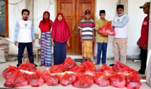 Peduli Sesama, KNPI Kota Bima Salurkan Ratusan Paket Sembako