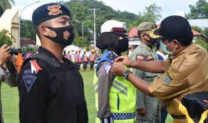 Operasi Lilin, Polres Bima Kota Apel Gelar Pasukan