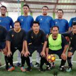 Tim Sekretaris DPRD Kota Bima pose bersama Tim PKM Jatibaru sebelum laga final Korpri Cup 2020