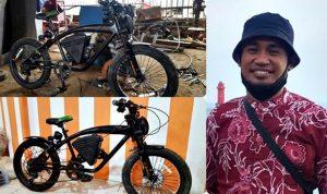 Bikin Bangga, Salah Satu Perakit Sepeda Listrik NTB Berasal dari Kota Bima
