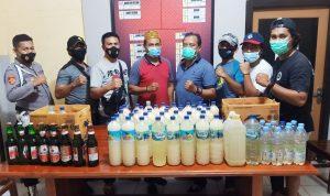 Razia, Polres Bima Kota Amankan Ratusan Botol Miras