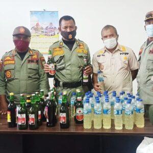 Patroli Reaksi Cepat, Sat Pol Sita Puluhan Botol Miras