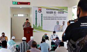 Polres Bima Kota Hibah Masjid Al Fatah untuk Masyarakat Oi Mbo