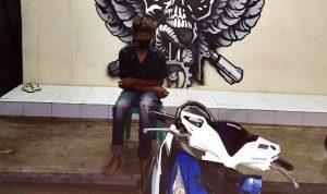 Kepergok Curi Motor, Pria Ini Ditangkap Warga Melayu