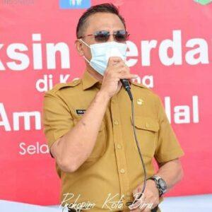 Divaksi Covid-19 Perdana, Wawali Bima Ajak Warga Sambut dengan Riang Gembira