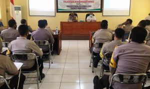 Bhabinkamtibmas Polres Bima Kota Ikut Latihan Tracer Covid-19