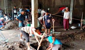 Bangun Masjid Baru, Warga Lewisape-Gilipanda Galakan Gotong Royong
