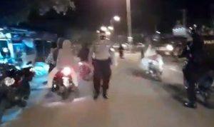Tim Rajawali Bubarkan Balap Motor Liar, 9 Unit SPM Diamankan