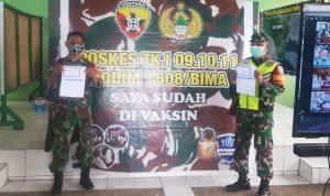 Serbuan Vaksinasi TNI POLRI di Wilayah Tertorial Kodim 1608 Bima