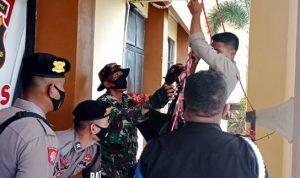 Personil Polisi dan TNI Latihan Bersama Tangani Bencana Alam