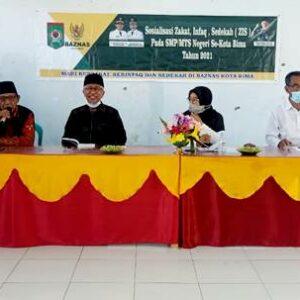 Baznas Sosialisasi ZIS Tingkat SMP-MTsN dan Salurkan Bantuan Musholla