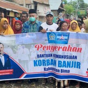 Anggota DPR RI Nanang Samodra Hadir Beri Bantuan untuk Korban Banjir di Bima