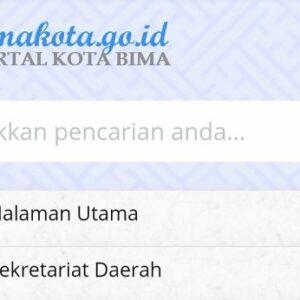 Website Pemkot Bima Zero Informasi Pengelolaan Anggaran