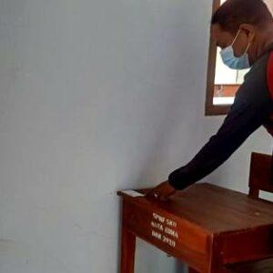 Ujian Paket C Dimulai, Istri Walikota Bima Hj Ellya tidak Hadir