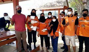 BPBD Lepas FTSB untuk Pengamanan Pantai Kolo dan Bagi-Bagi Masker