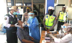 Polres Bima Kota Swab dan Tes Antigen Penumpang di Terminal Dara