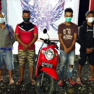 6 Orang Terduga Penadah Motor Curian Diseret ke Kantor Polisi