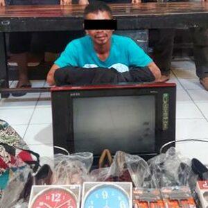 Bobol Rumah Tetangga, Pria Ini Digelandang ke Polsek Rastim