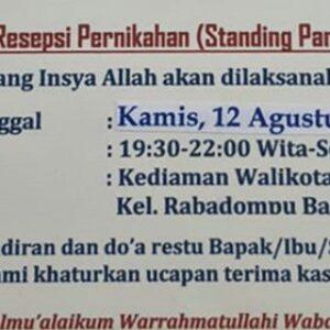 Rencana Standing Party di Kediaman Walikota di Tengah Status Kota Bima PPKM Level 3