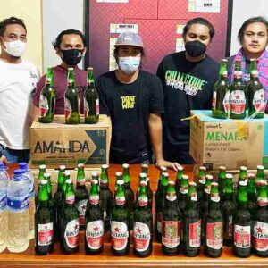 Puluhan Botol Miras di Kecamatan Sape dan Lambu Diamankan