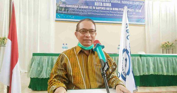 Muscab Gapensi Kota Bima, Rusdin H Adnan Terpilih Secara Aklamasi