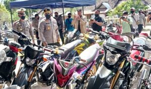 Sat Lantas Tilang 78 Unit Motor Knalpot Racing