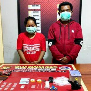 Narkoba, Suami Istri Ini Digelandang ke Kantor Polisi