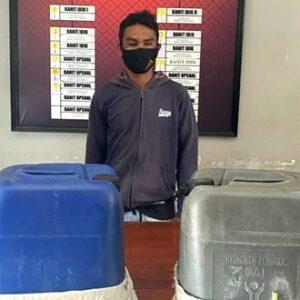 Polisi Sita Sofi 2 Jerigen Ukuran 30 Liter Milik Tukang Ojek