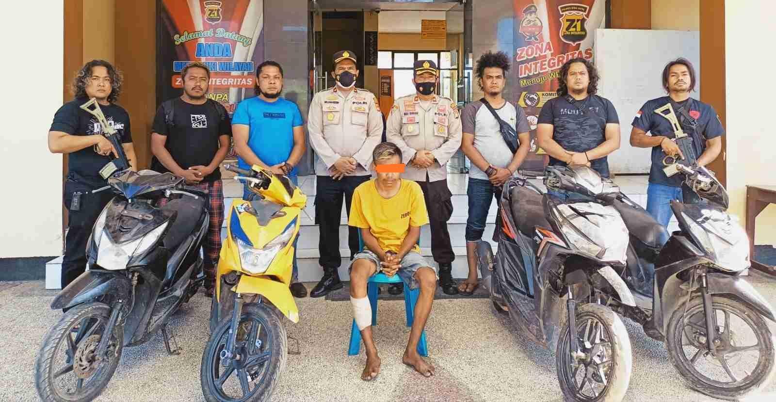 Lawan Polisi Saat Ditangkap, Buronan Curanmor Dilumpuhkan