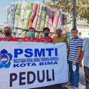 PSMTI Bawa 484 Paket Bantuan Korban Kebakaran di Sape