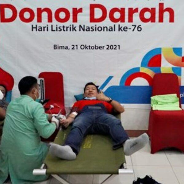 Hari Listrik Nasional, PLN UP3 Bima Gelar Kegiatan Donor Darah