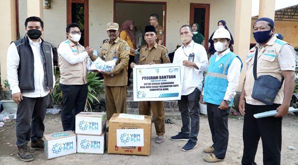 YBM PLN UP3 Bima Bantu Korban Kebakaran di Desa Naru